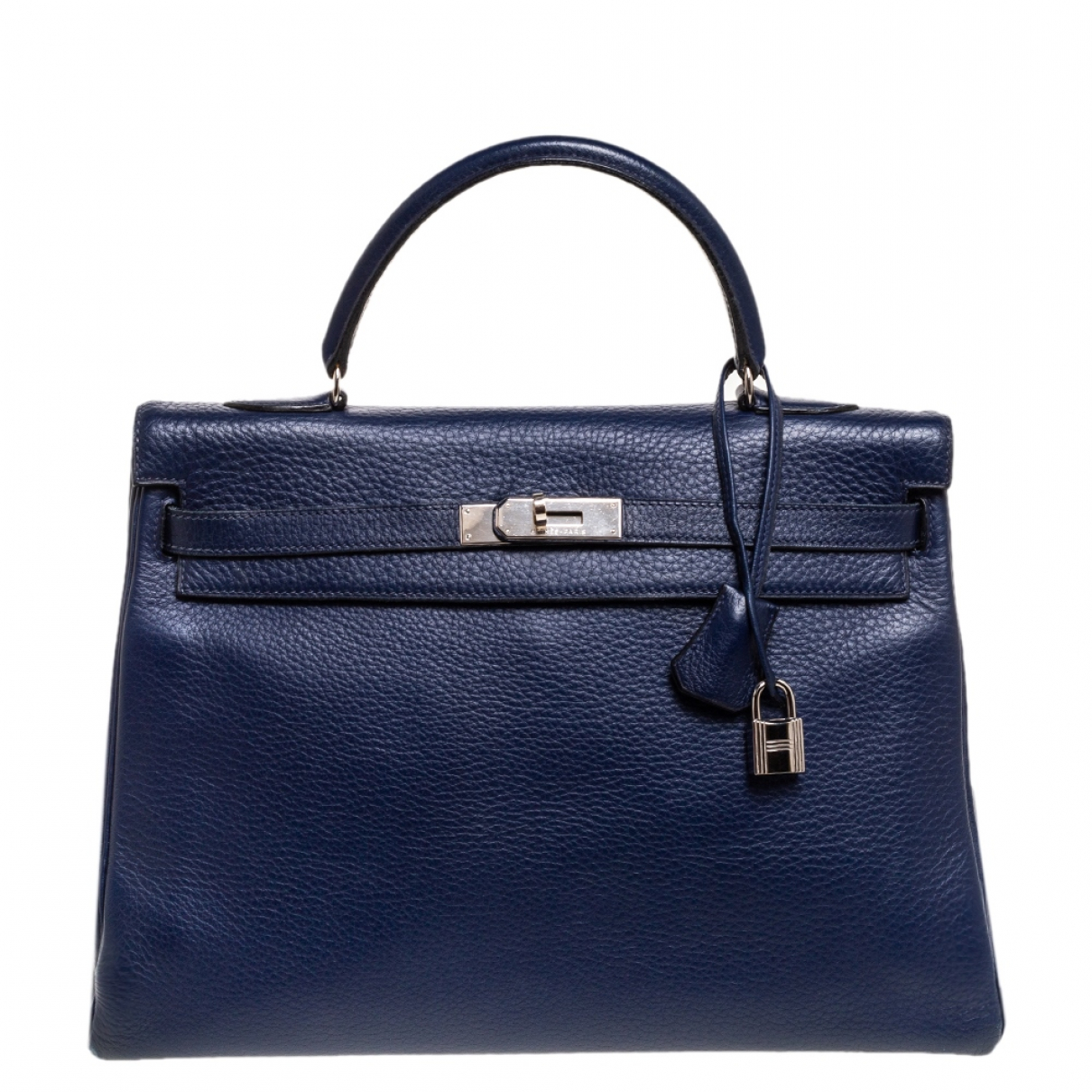 Hermès Kelly 35 Blue Leather handbag for Women N