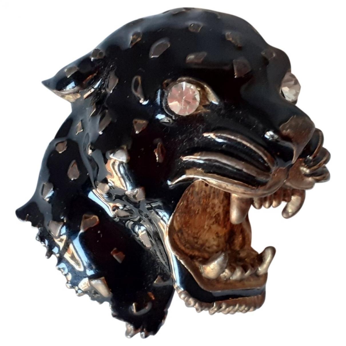 Broche Motifs Animaliers en Metal Negro Non Signe / Unsigned