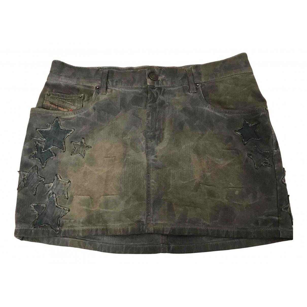 Diesel - Jupe   pour femme en coton - elasthane - gris