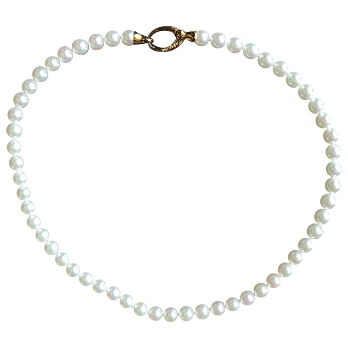 - Collier   pour femme en perle - blanc