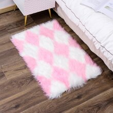Geometric Pattern Plush Carpet