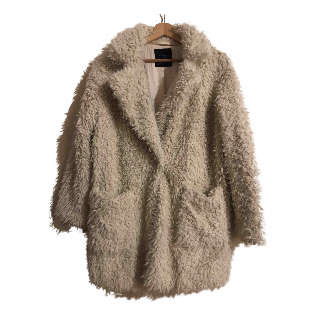 Zara - Manteau   pour femme - ecru