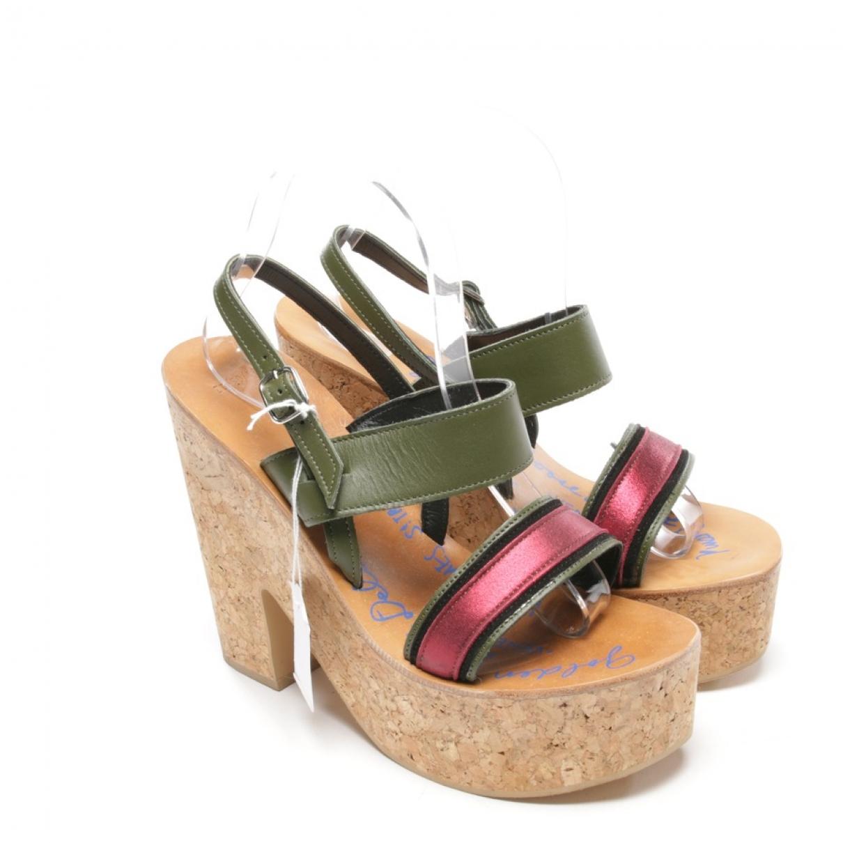 K Jacques - Sandales   pour femme en cuir verni - multicolore