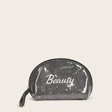 1 Stueck Makeup Tasche mit Glitzer