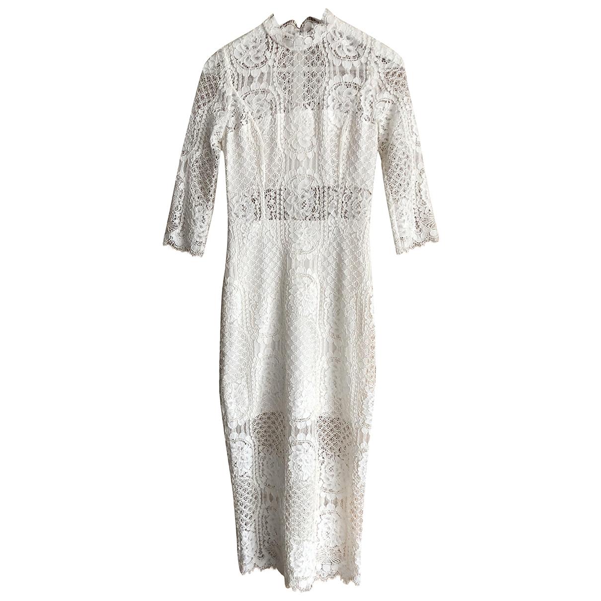 Alexis \N Kleid in  Ecru Polyester