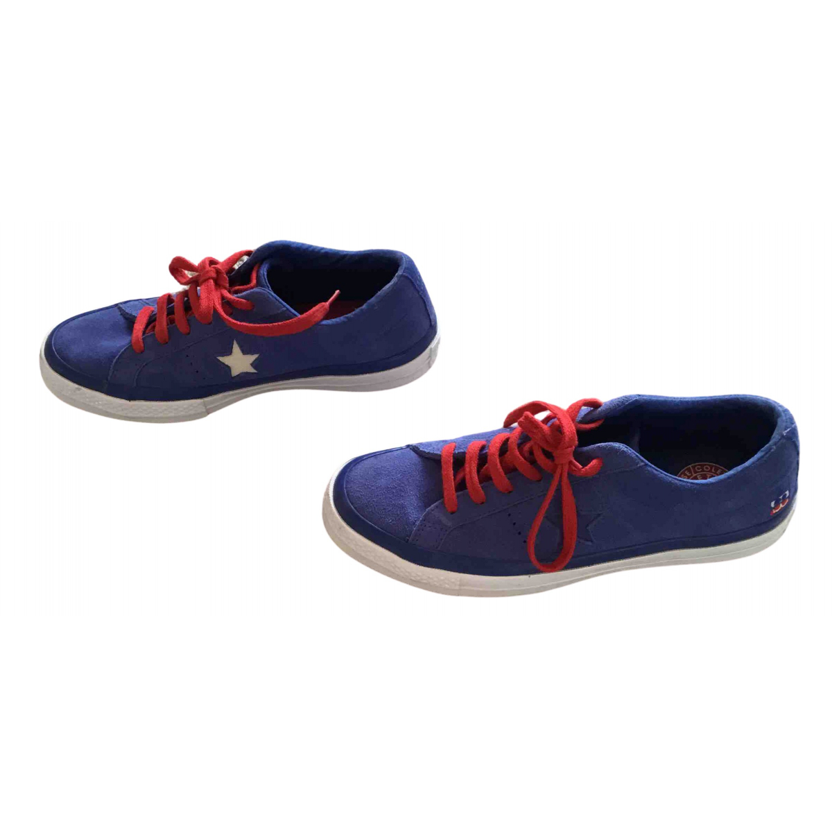 Converse \N Sneakers in  Blau Kalbsleder in Pony-Optik