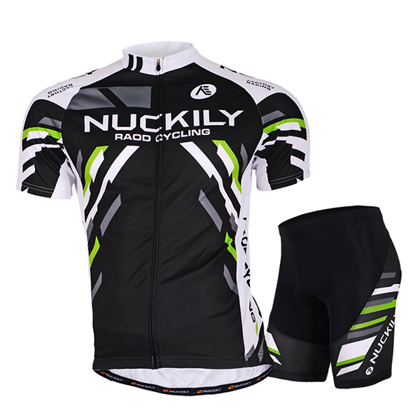Male Black Breathable Short Sleeve Bike Jersey with Full Zipper Quick-Dry Cycling Suit