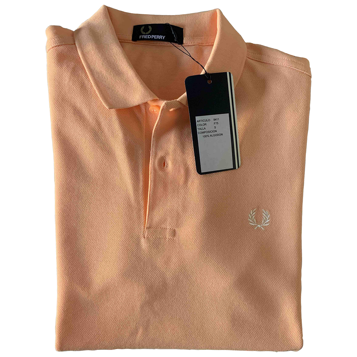 Fred Perry - Polos   pour homme en coton - orange