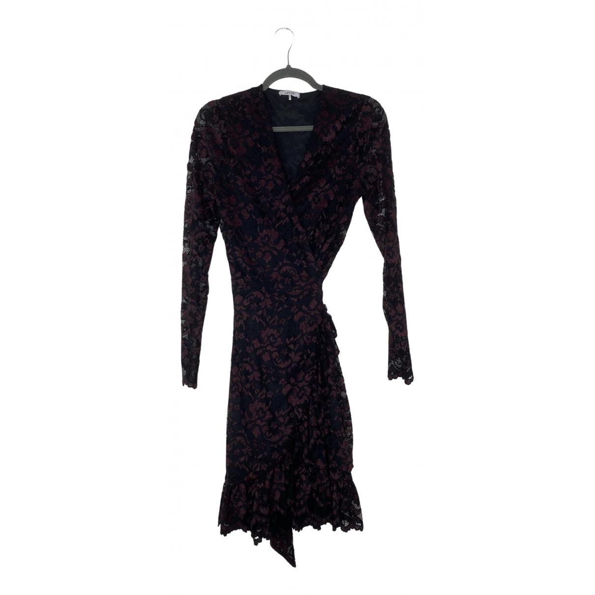 Ganni \N Kleid in  Bordeauxrot Spitze