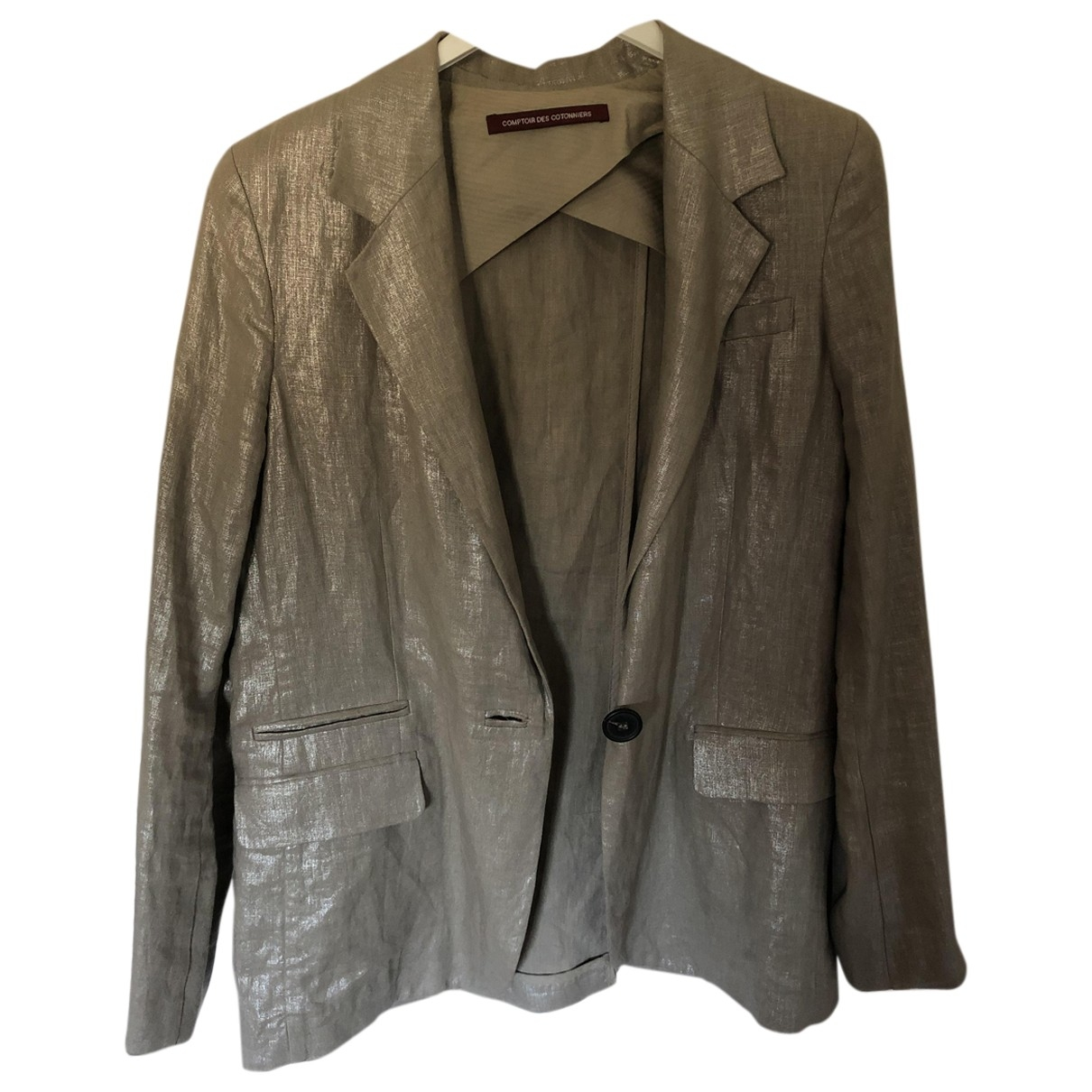 Comptoir Des Cotonniers \N Silver Linen jacket for Women 40 FR