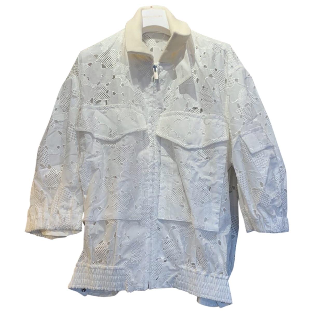 Sacai - Veste   pour femme en coton - blanc