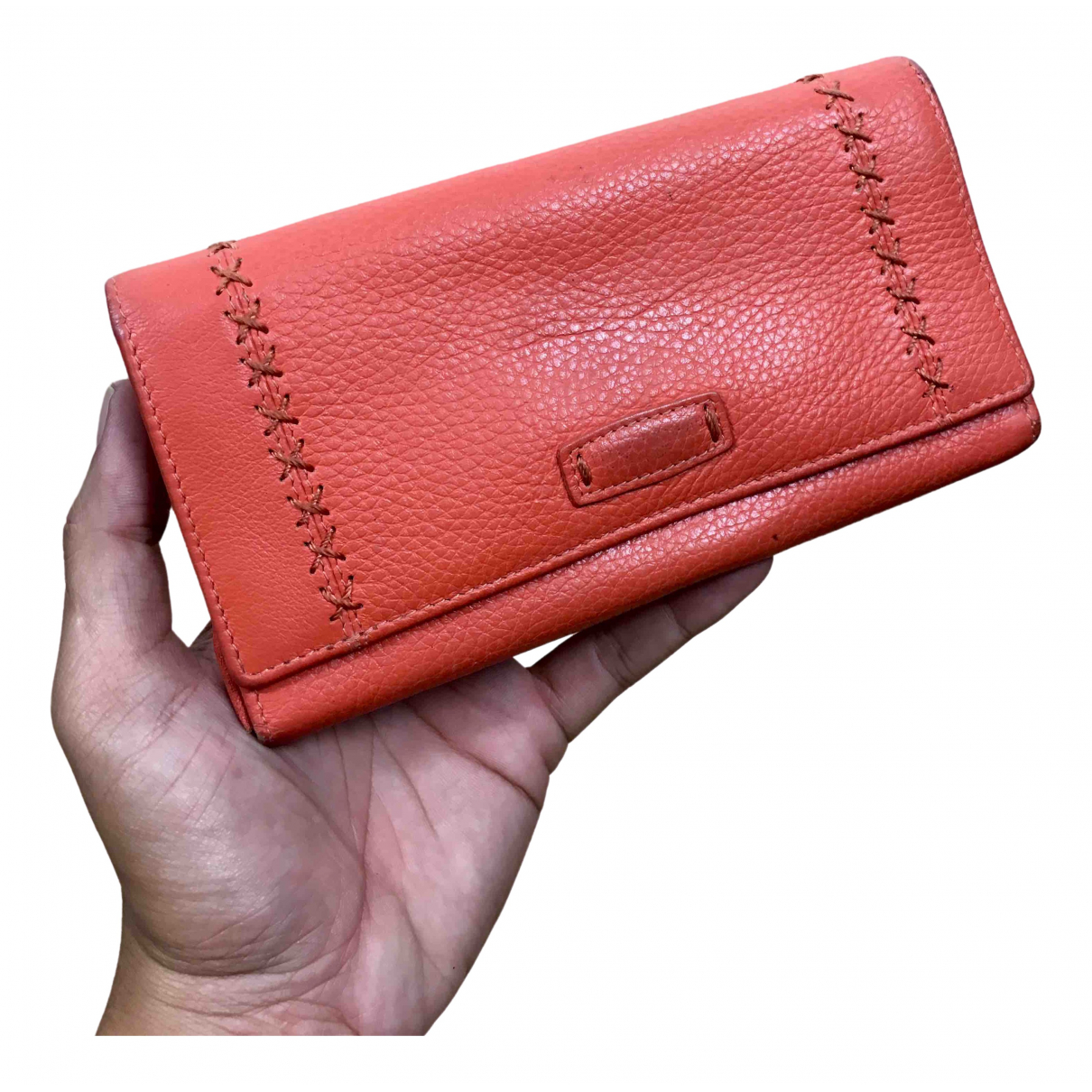Kansai Yamamoto \N Orange Leather wallet for Women \N