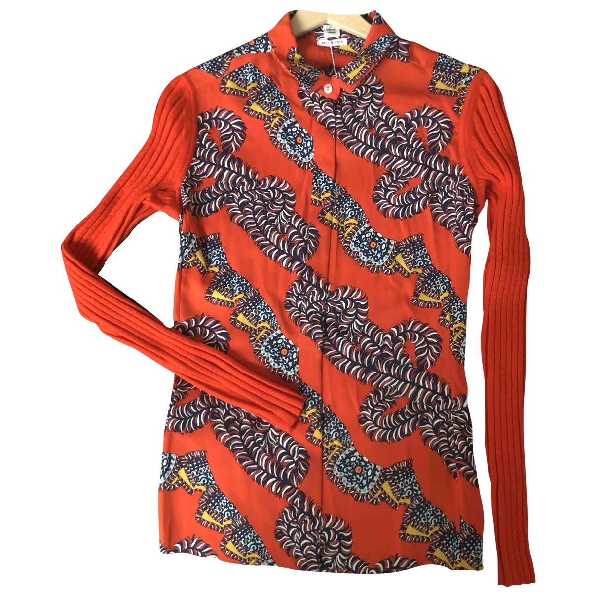 Hermes - Pull   pour femme en soie - multicolore