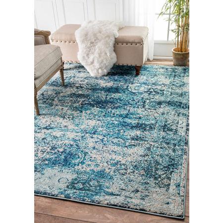 nuLoom Vintage Shuler Rug, One Size , Blue