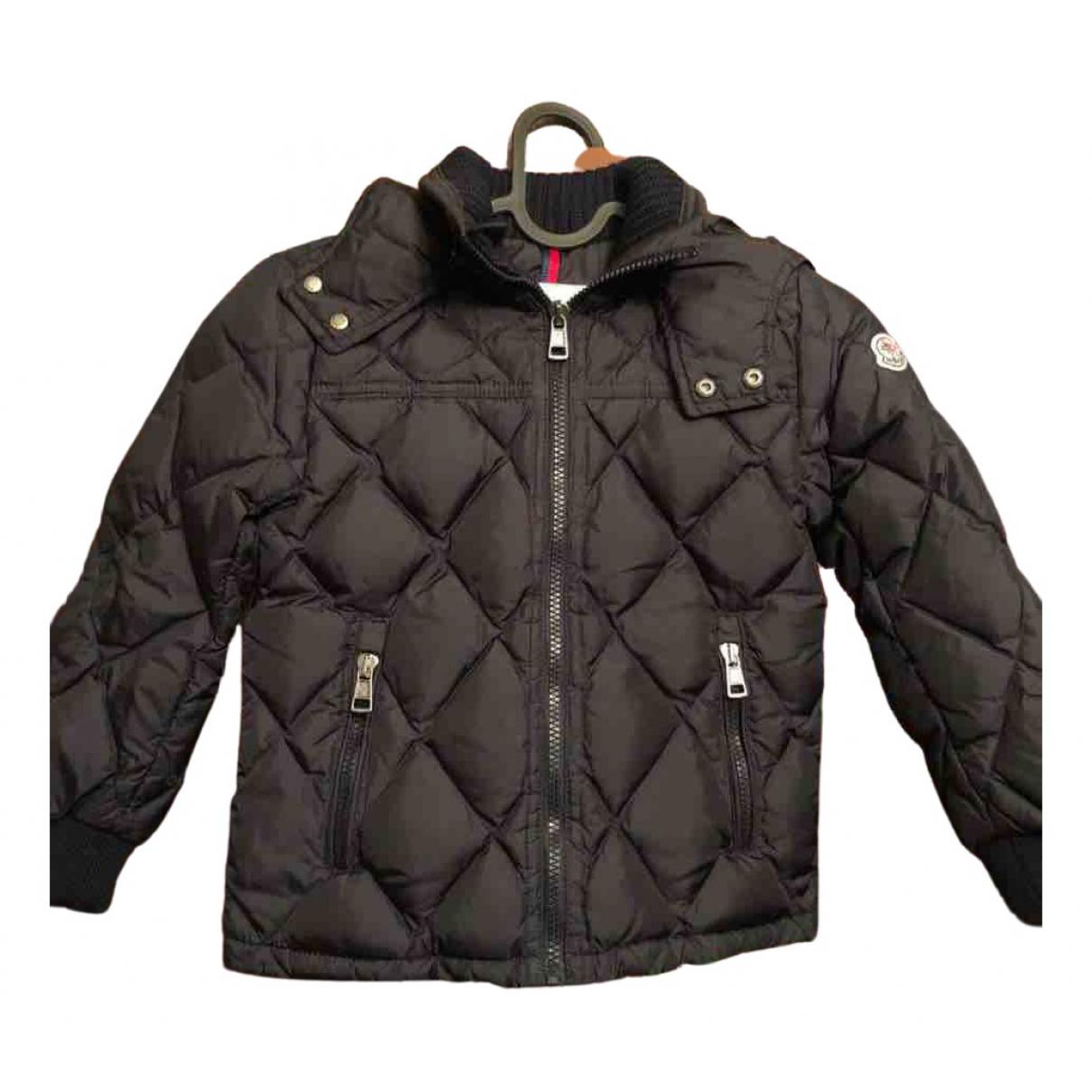 Moncler - Blousons.Manteaux   pour enfant en fourrure - marine