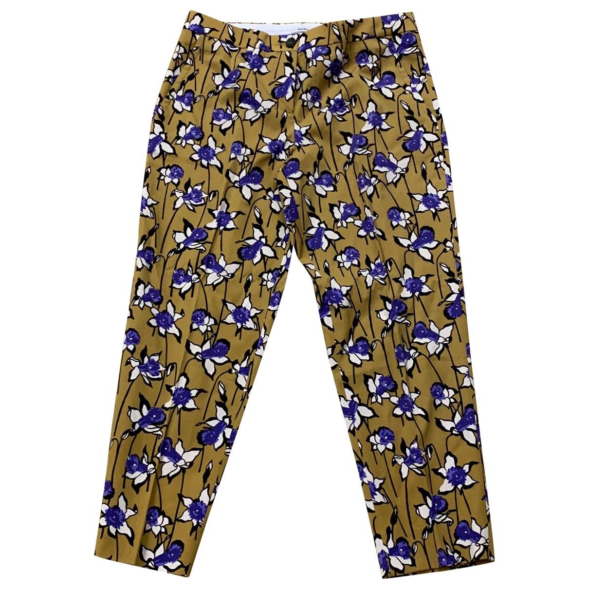 Miu Miu \N Wool Trousers for Women 42 IT