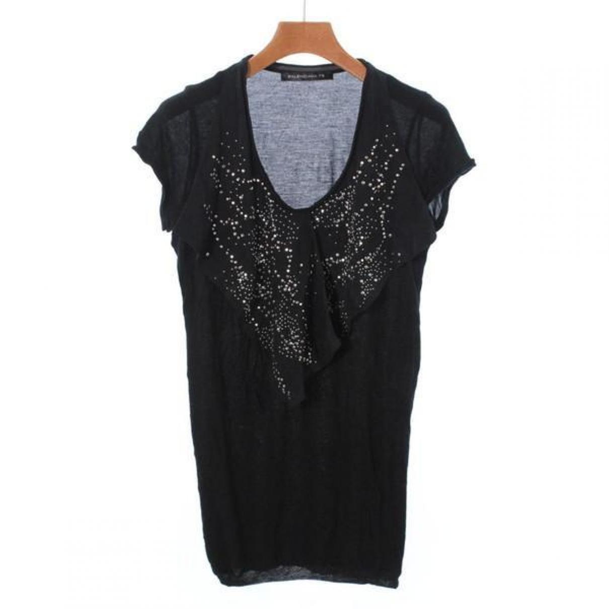 Balenciaga \N Black Cotton  top for Women 34 FR