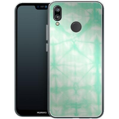 Huawei P20 Lite Silikon Handyhuelle - Tie Dye 2 Mint von Amy Sia