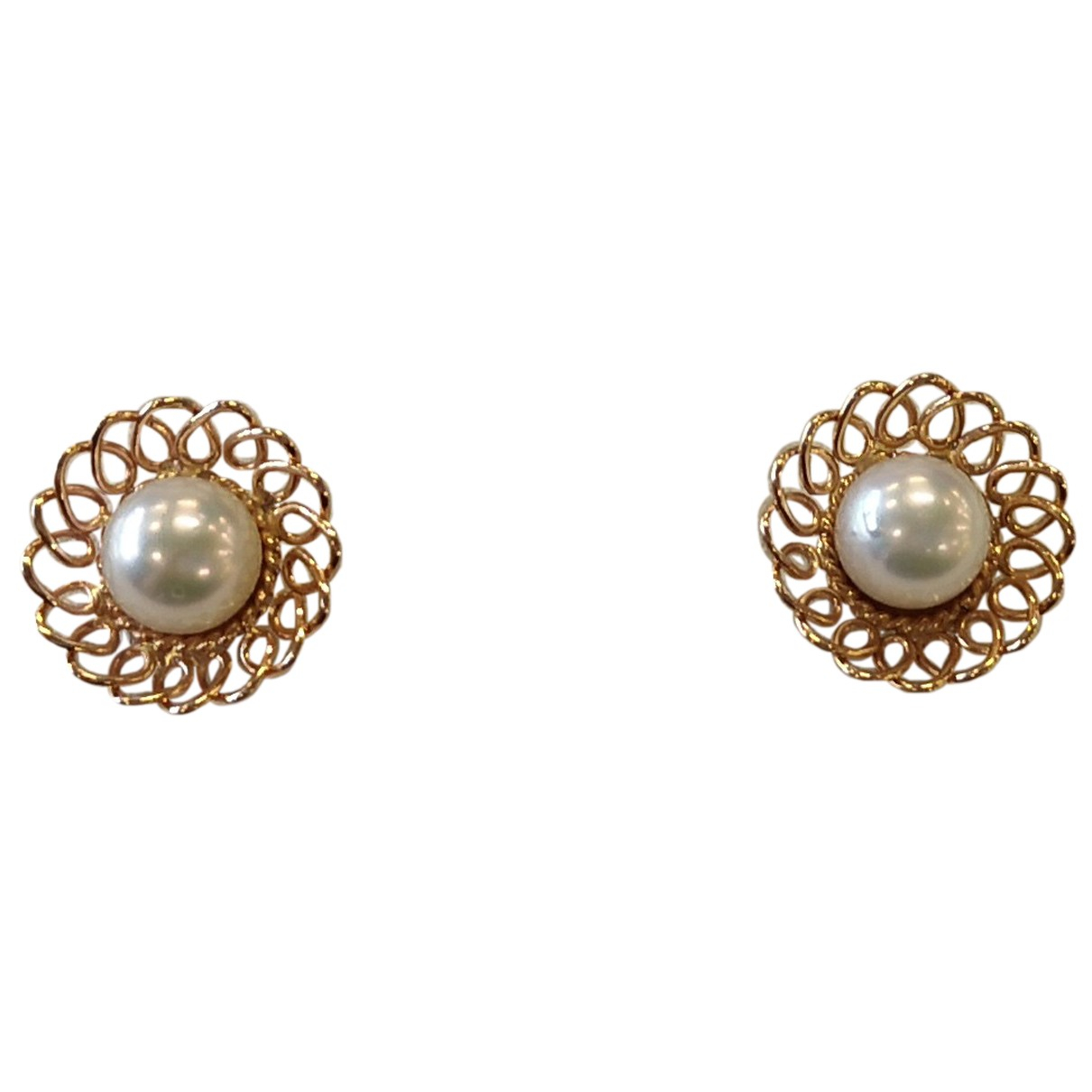 Non Signé / Unsigned N Yellow Yellow gold Earrings for Women N