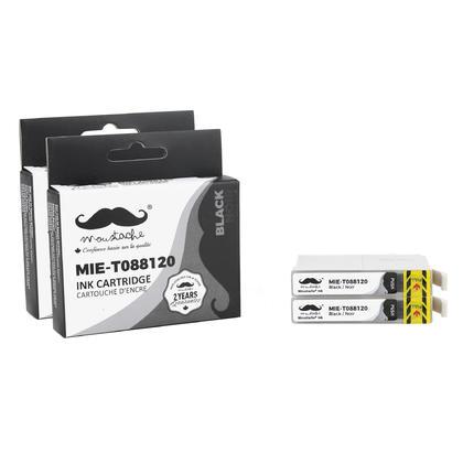 Compatible Epson 88 T088120 Black Ink Cartridge - Moustache@ - 2/Pack