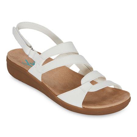 Yuu Jean Womens Strap Sandals, 9 1/2 Medium, White