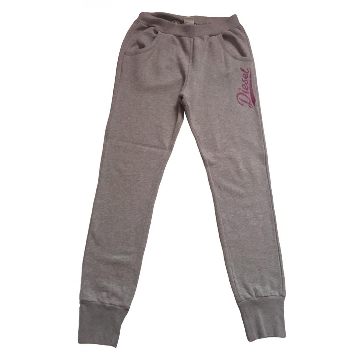Diesel - Pantalon   pour enfant en coton - gris