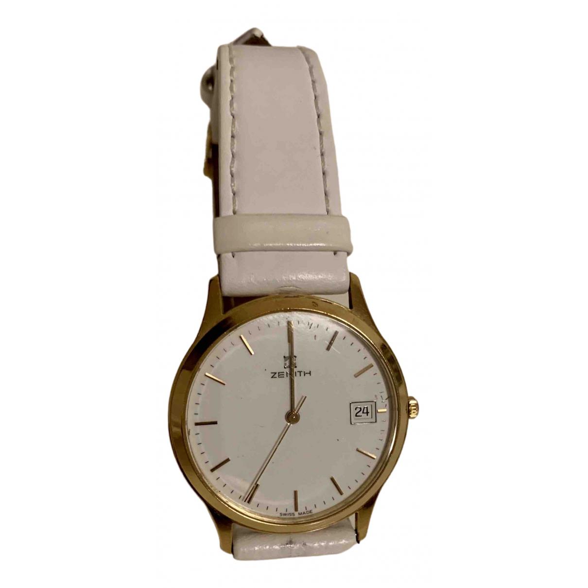 Zenith \N Uhr in  Weiss Gelbgold