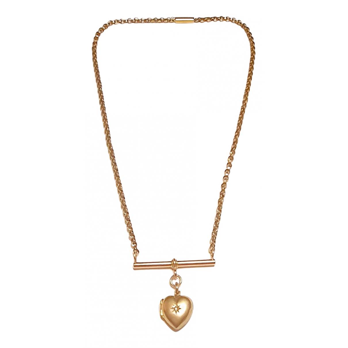 Collar Motifs Coeurs de Oro rosa Non Signe / Unsigned