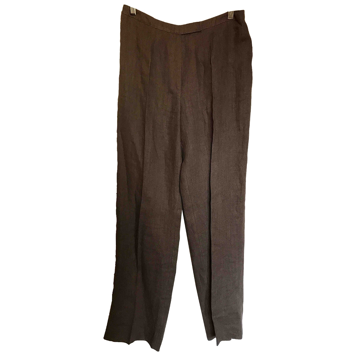 Georges Rech \N Brown Linen Trousers for Women 40 FR