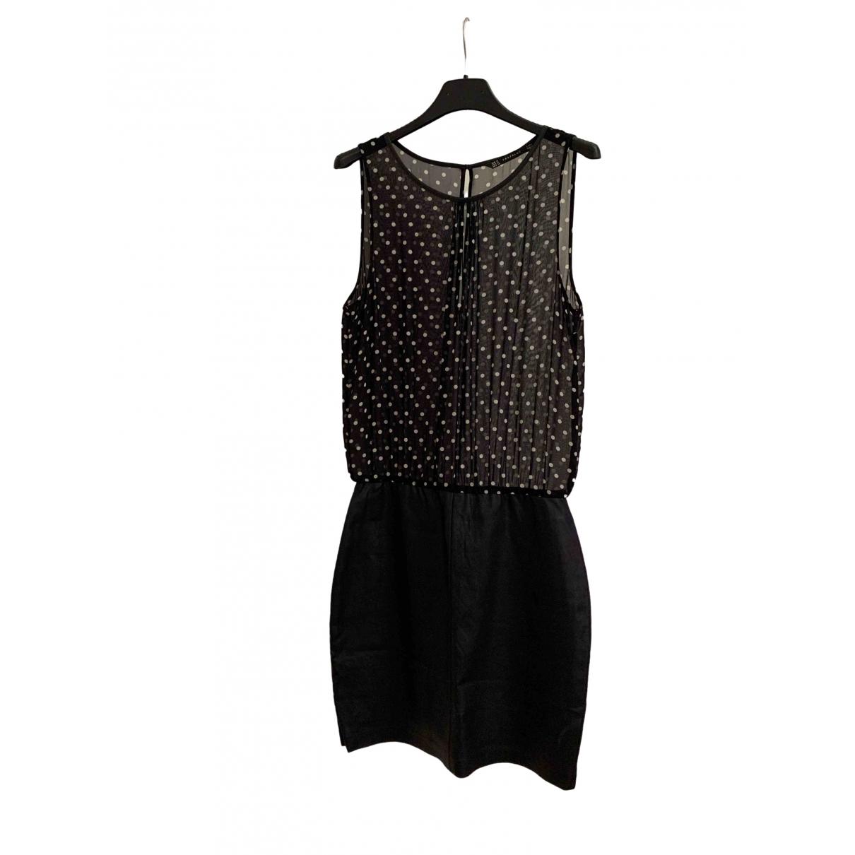 Zara \N Black Leather dress for Women M International