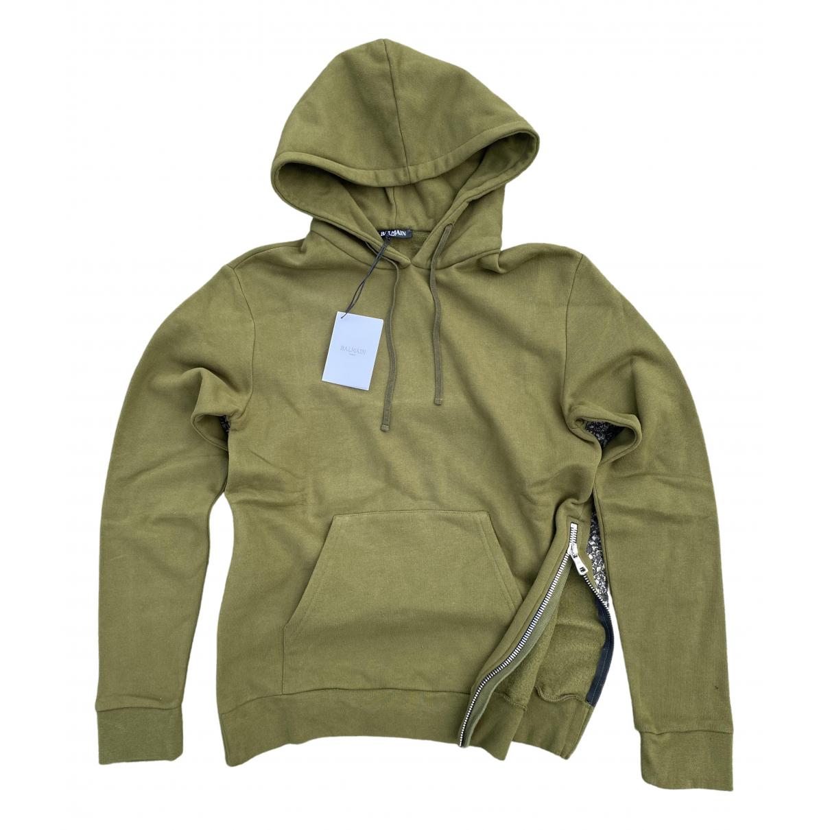 Balmain \N Khaki Cotton Knitwear & Sweatshirts for Men M International