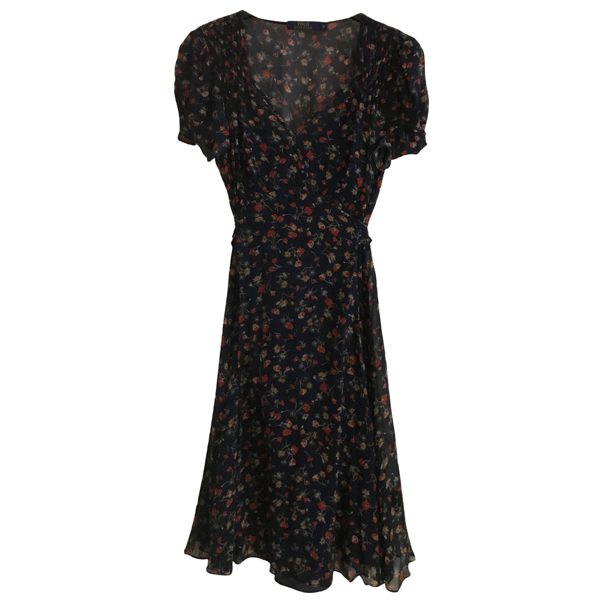 Polo Ralph Lauren \N Kleid in  Marine Seide