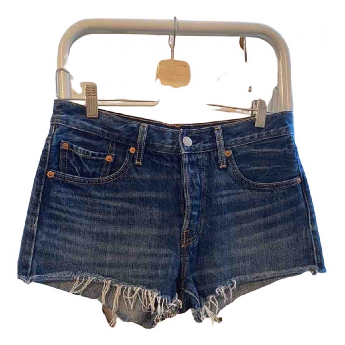 Levi's \N Blue Cotton Shorts for Women 4 US