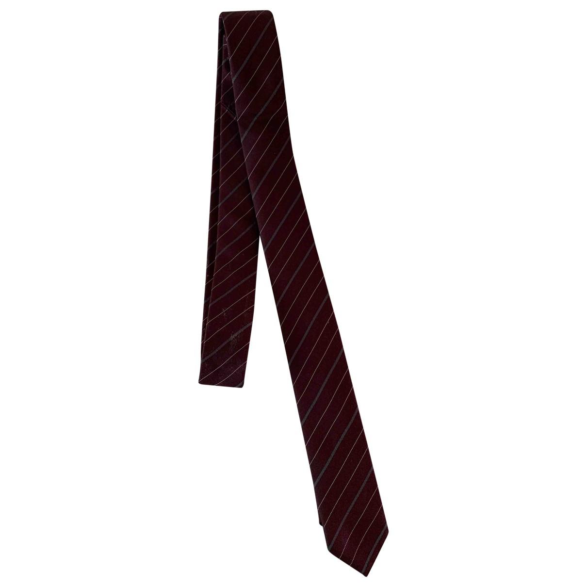 Dior Homme \N Krawatten in  Bordeauxrot Seide