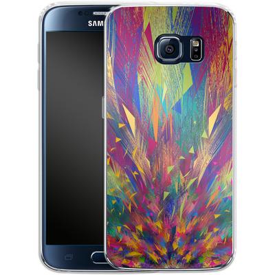 Samsung Galaxy S6 Silikon Handyhuelle - Triangles Explosion von Danny Ivan