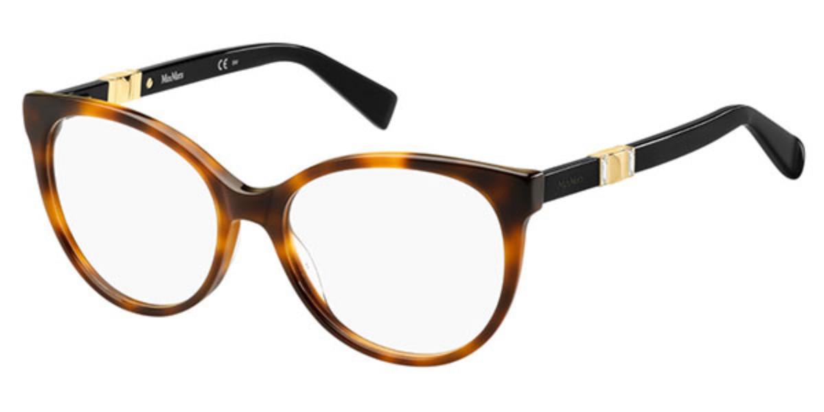 Max Mara MM 1310 086 Women's Glasses Tortoise Size 54 - Free Lenses - HSA/FSA Insurance - Blue Light Block Available