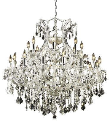 2800D36C/RC 2800 Maria Theresa Collection Hanging Fixture D36in H36in Lt: 24+1 Chrome Finish (Royal Cut