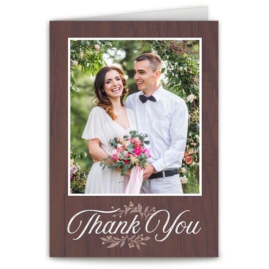 20 Pack of Gartner Studios® Personalized Elegant Ink Folded Wedding Thank You in Chocolate | 5