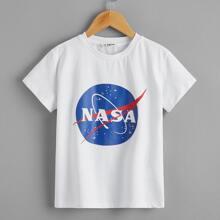 Camiseta con estampado de dibujo