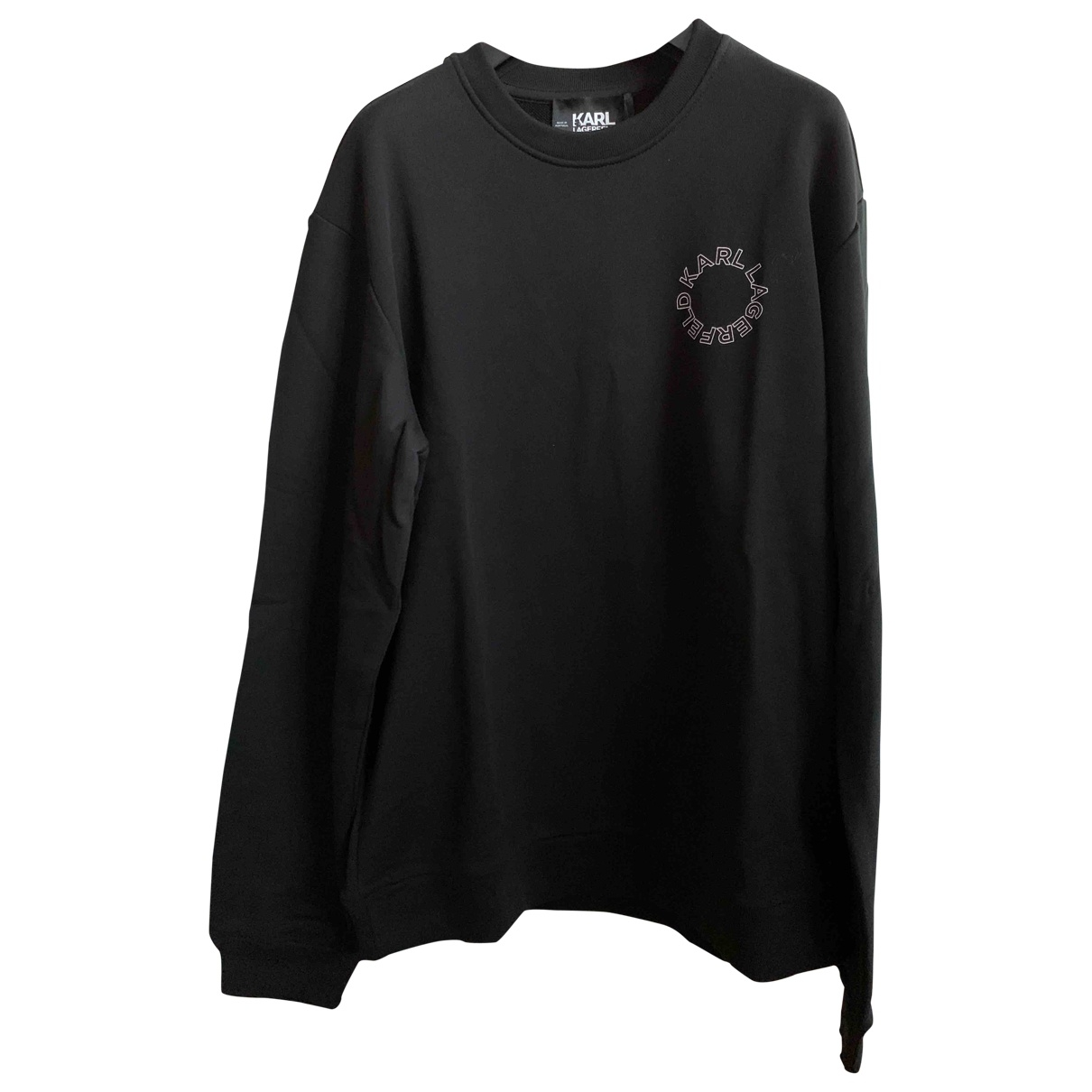 Karl Lagerfeld \N Black Cotton Knitwear & Sweatshirts for Men M International