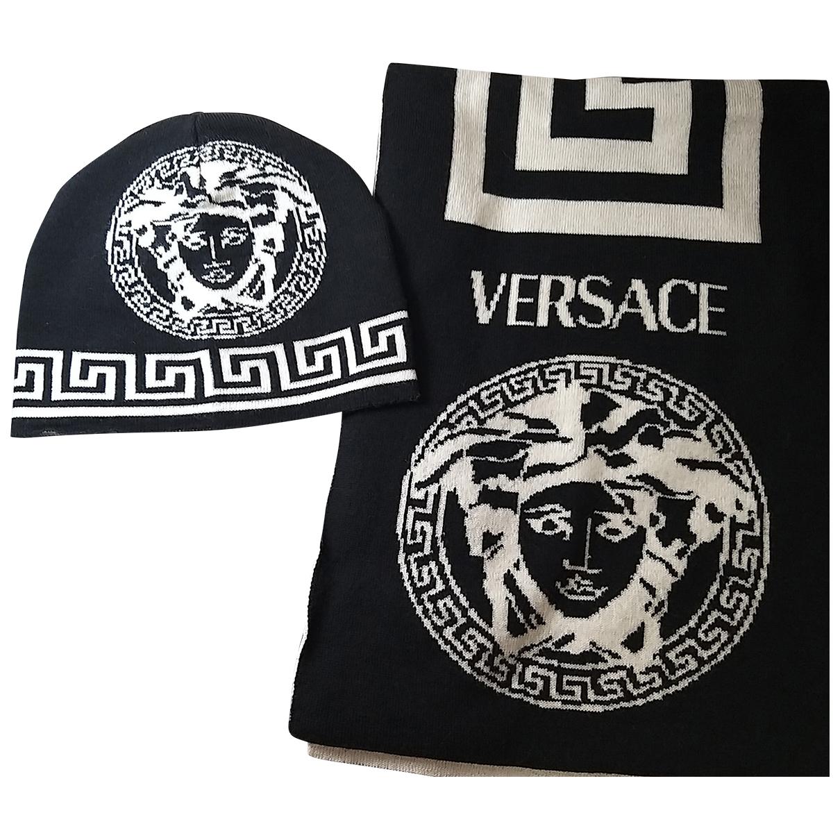 Gianni Versace \N Tuecher, Schal in  Schwarz Wolle