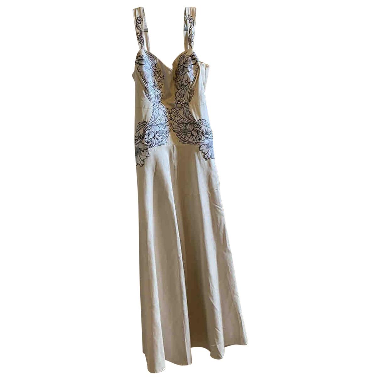 Temperley London \N Kleid in  Beige Seide