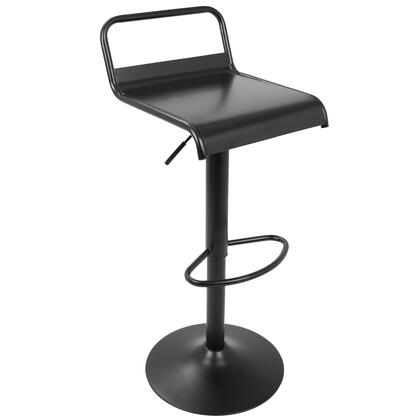 BS-EMRY BK2 Emery Industrial Contemporary Barstool in Black - Set of