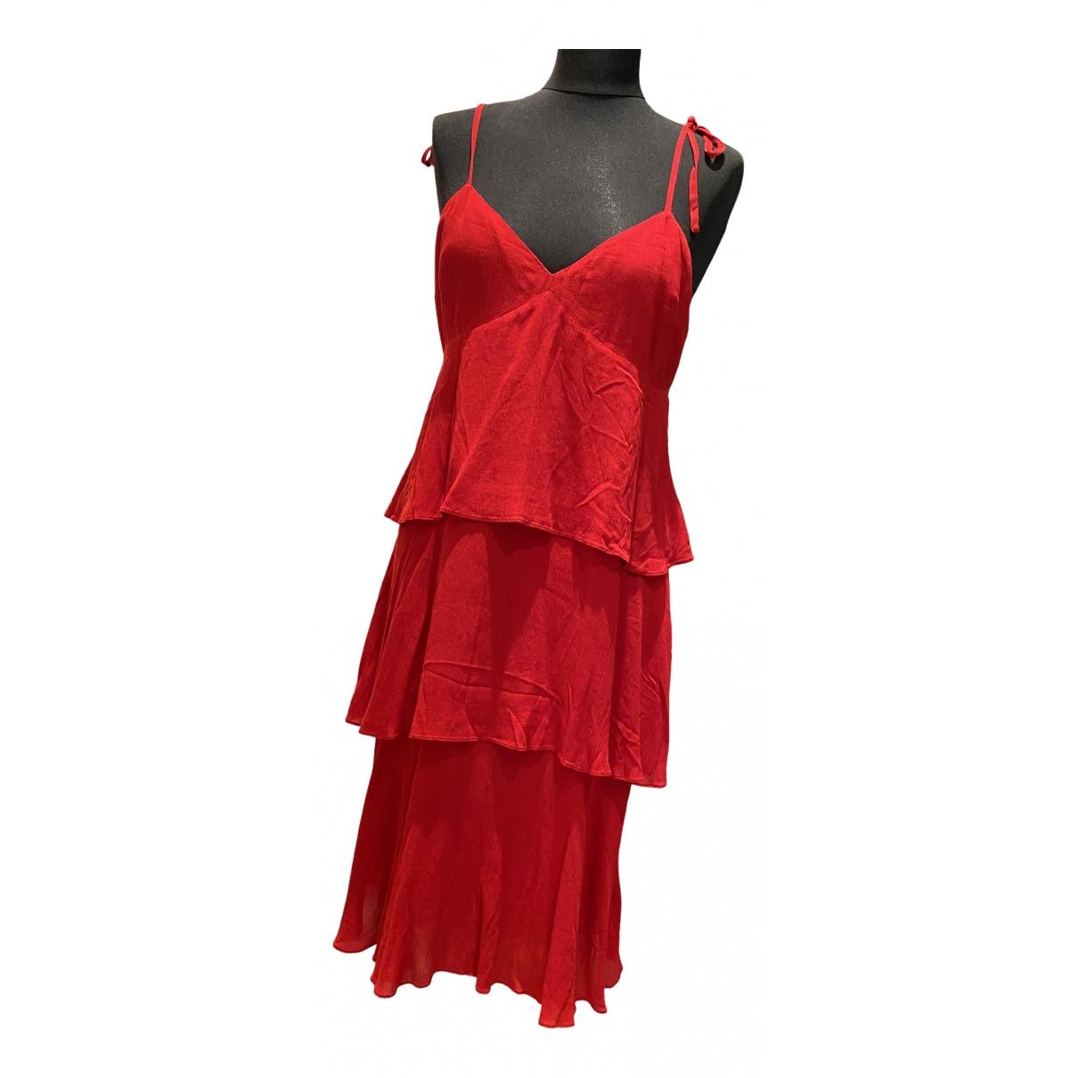 Club Monaco \N Kleid in  Rot Viskose
