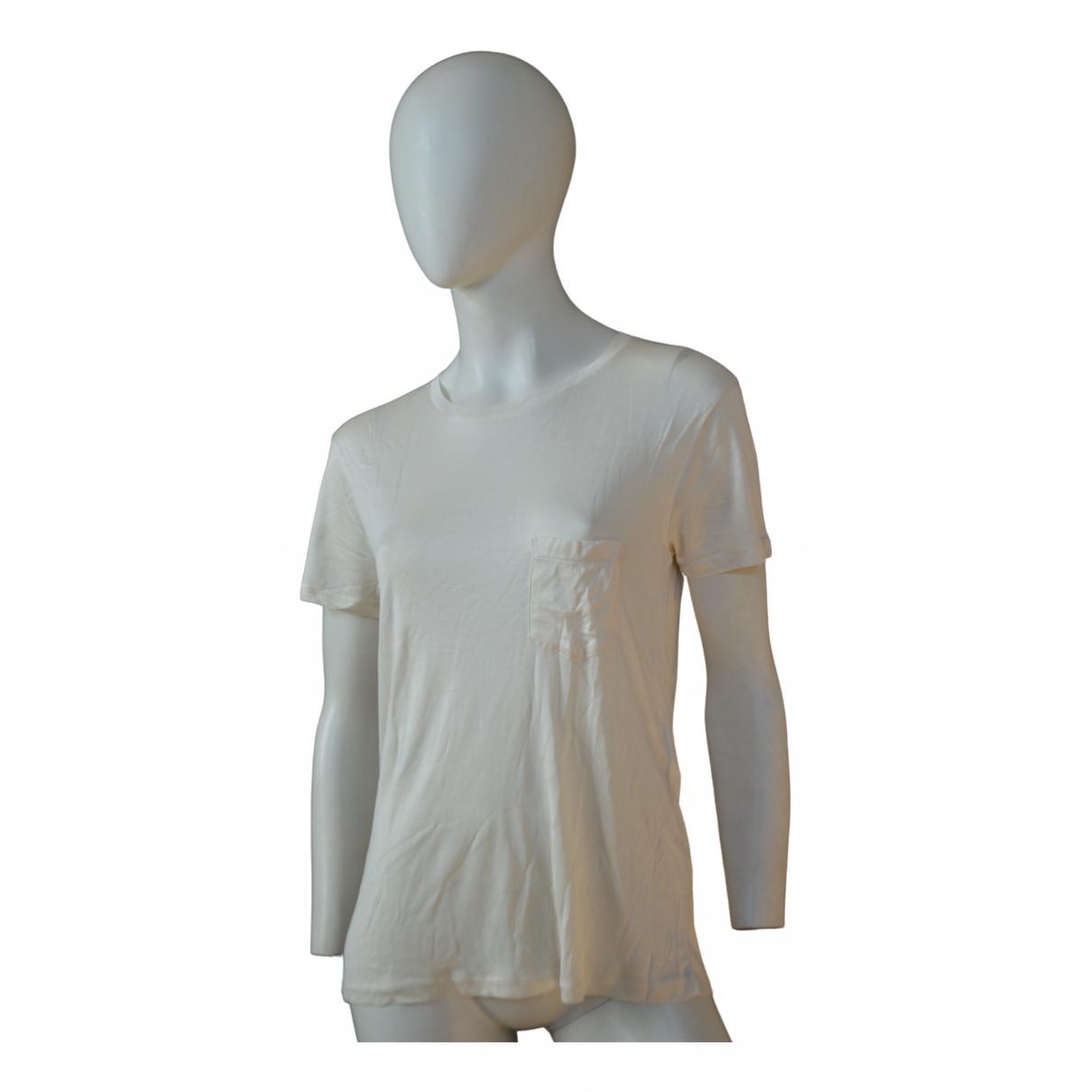 Saint Laurent \N Ecru Silk  top for Women M International