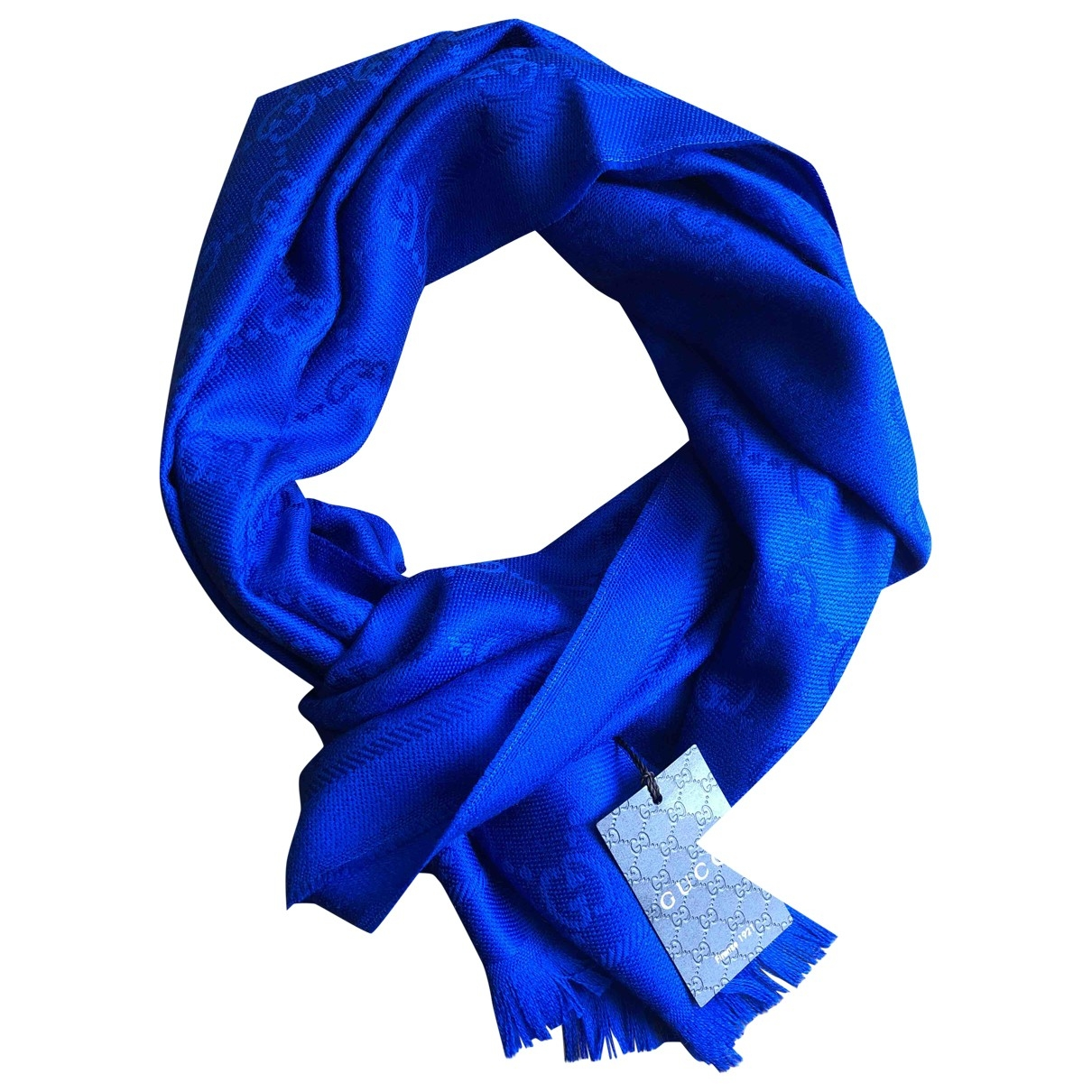 Gucci \N Blue Wool scarf for Women \N