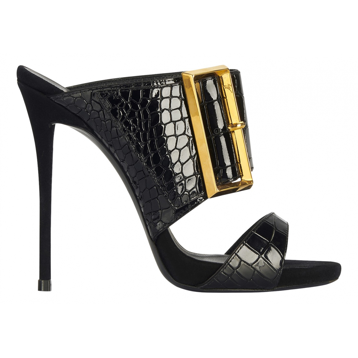 Giuseppe Zanotti N Black Leather Sandals for Women 5 UK