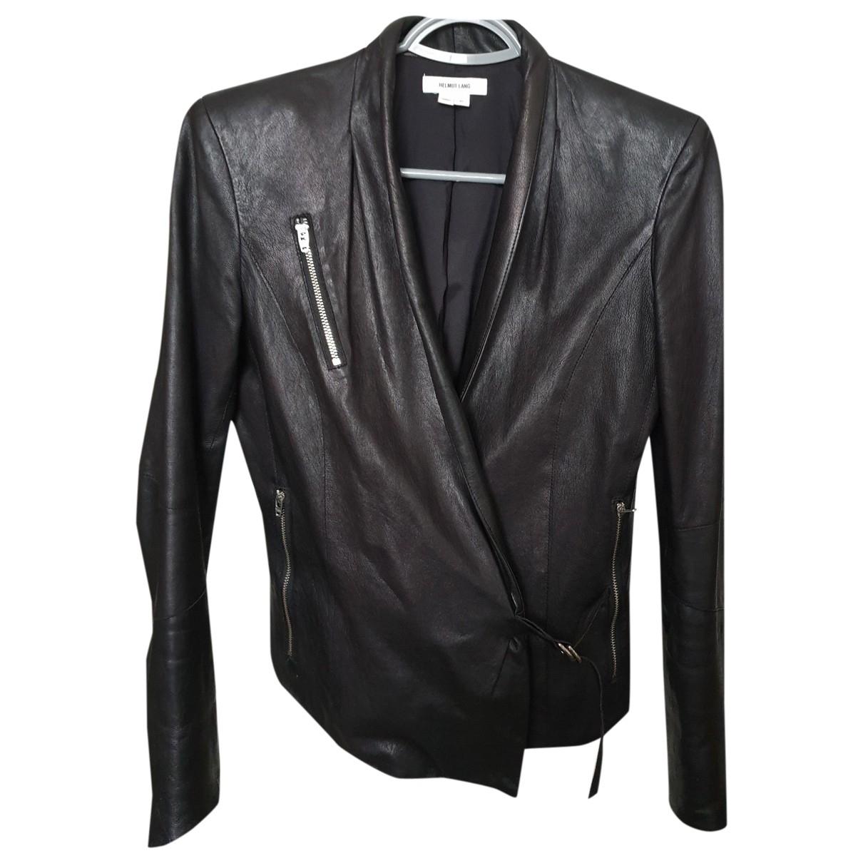 Helmut Lang \N Black Leather jacket for Women 36 FR