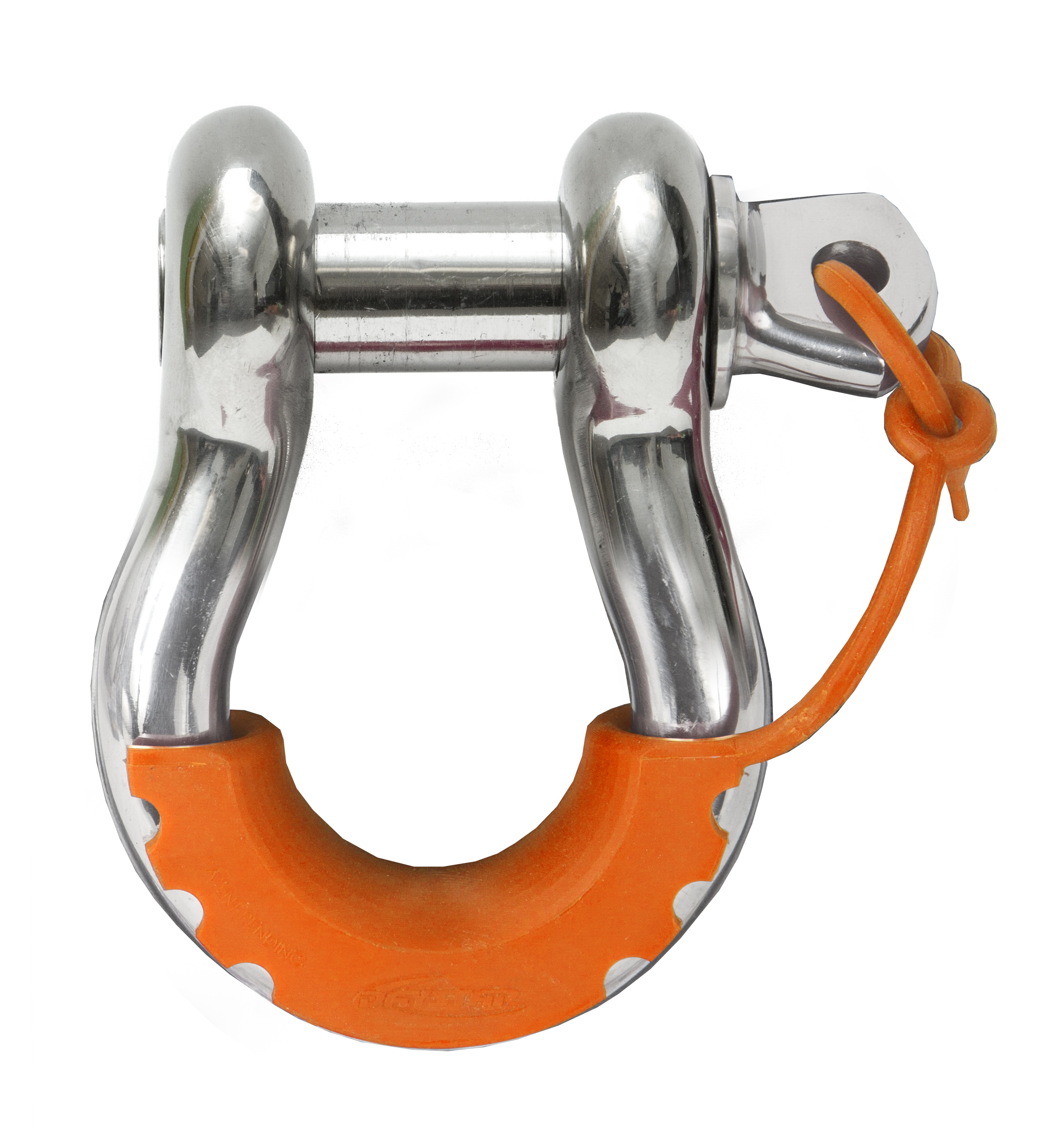 Daystar KU70058FA Locking D Ring Isolators Fluorescent Orange Pair