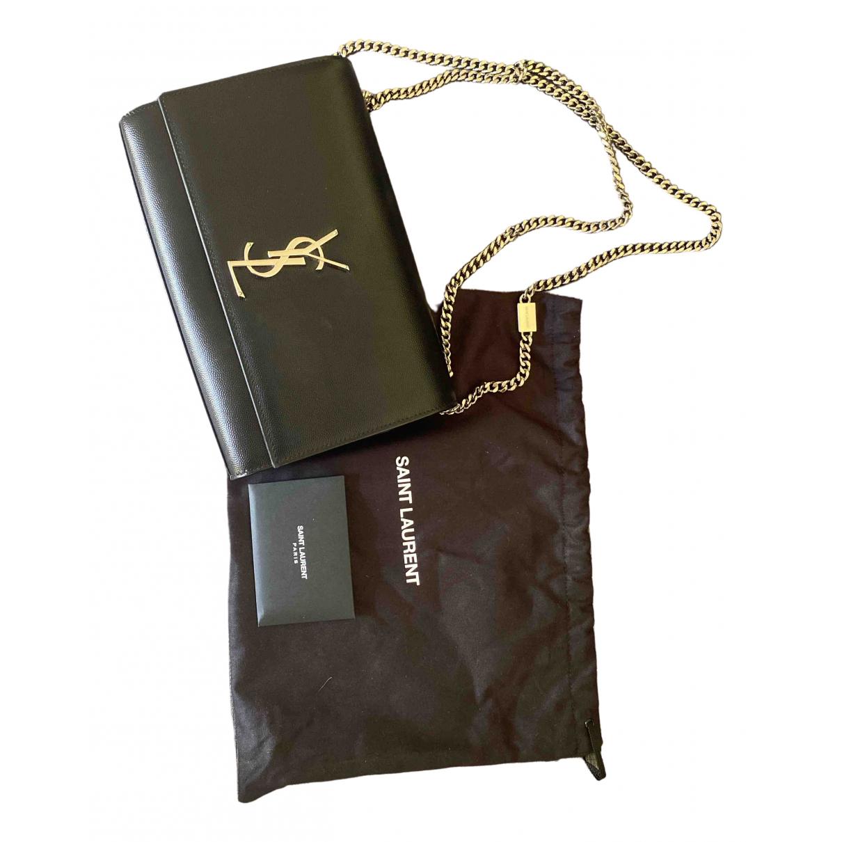 Saint Laurent - Sac a main Kate monogramme pour femme en cuir - noir